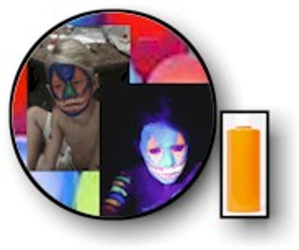 Clownfish Orange Neon Body UV Paints.
