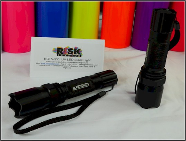 Fluorescent UV flashlights for crime scene tools and non destructive testing.