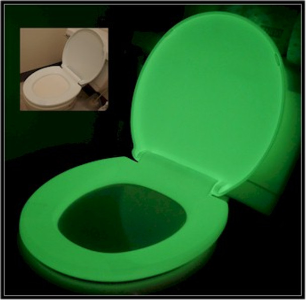 Anti microbial and fragrant glowing toilet seats for the young and old alike.