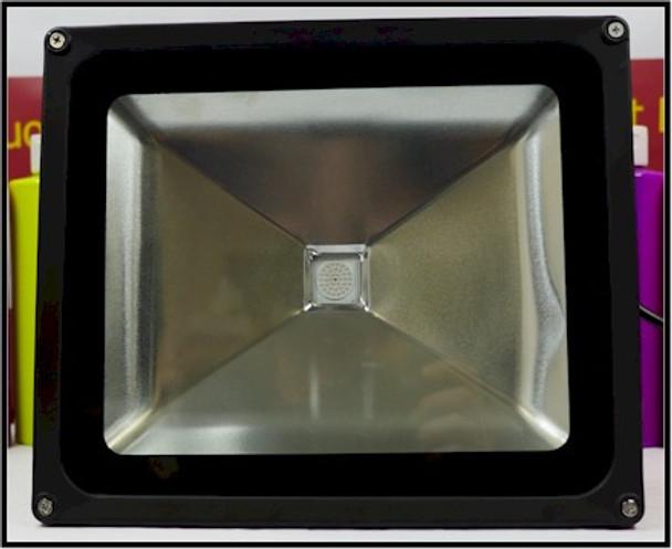 Front view of seventy watt UV LED black light panels