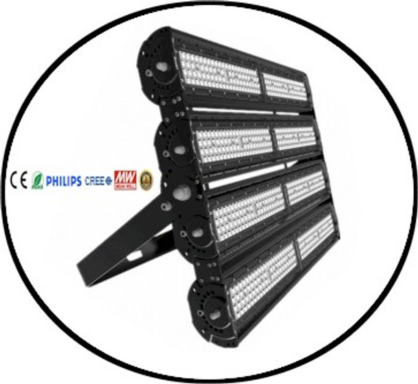 Theatrical UV LED black light in a flood light form emitting 365 NM ultra violet energy