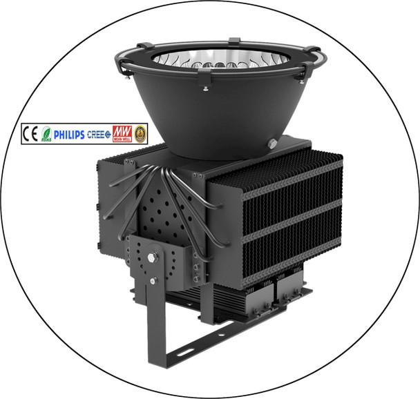 500 watt super black light for theater lighting and UV curing applications