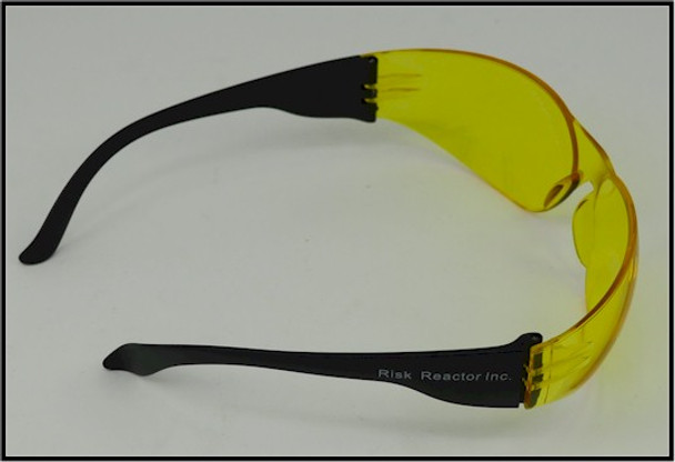 Back view of the UVSPORT-Y black light enhancing goggles