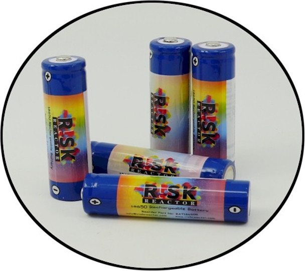 Set of eight black light 18650 NDT batteries at wholesale prices