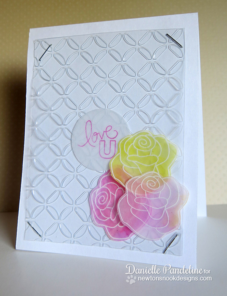 Love You Rose Card  | Love Grows stamp set by Newton's Nook Designs