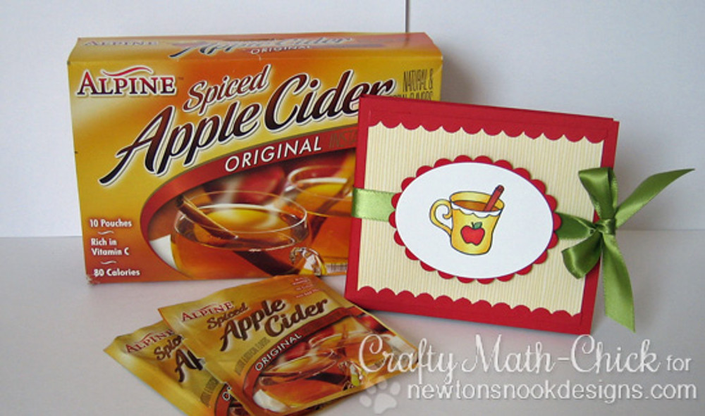 Apple Cider Holder | Apple Delights | 3x4 photopolymer Stamp Set | Newton's Nook Designs