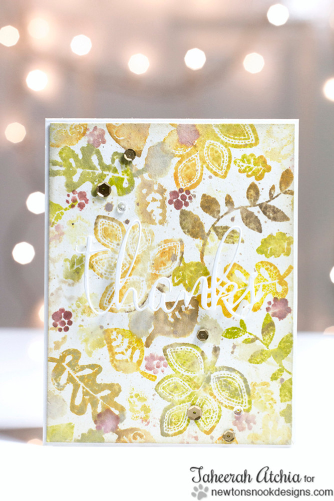 Fall Leaf Card | Falling into Autumn | 4x6 photopolymer Stamp Set | Newton's Nook Designs
