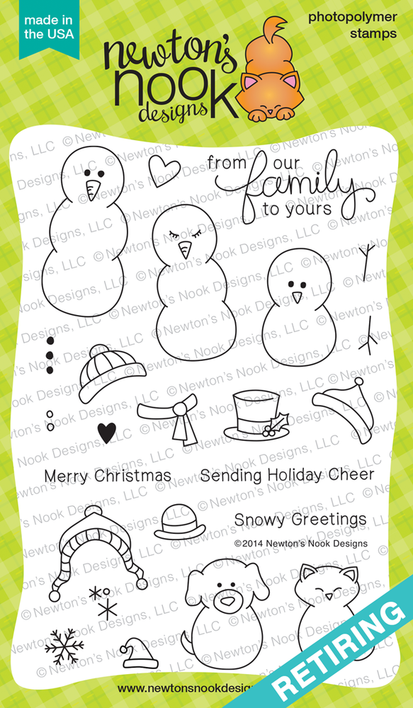 Flaky Family | 4x6 photopolymer Stamp Set | Newton's Nook Designs