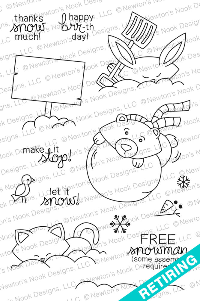 Winter Tails Stamp Set ©2014 Newton's Nook Designs