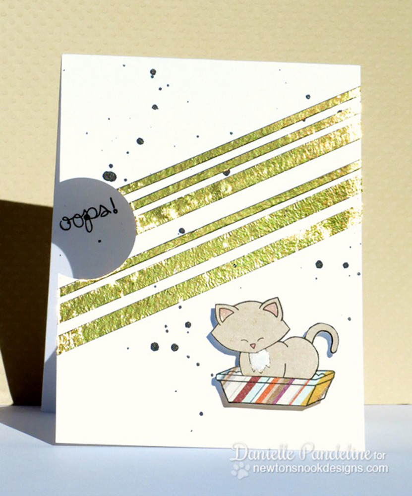 Apology Cat Card | Naughty Newton | 4x6 photopolymer Stamp Set | Newton's Nook Designs