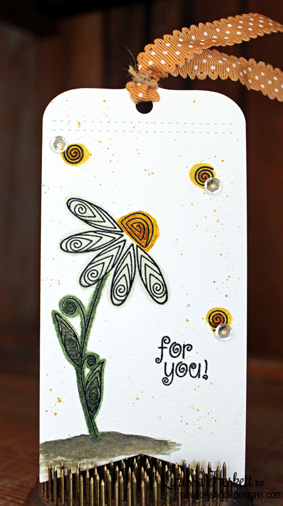 Flower tag | Beautiful Blossoms | 4x6 photopolymer Stamp Set | Newton's Nook Designs