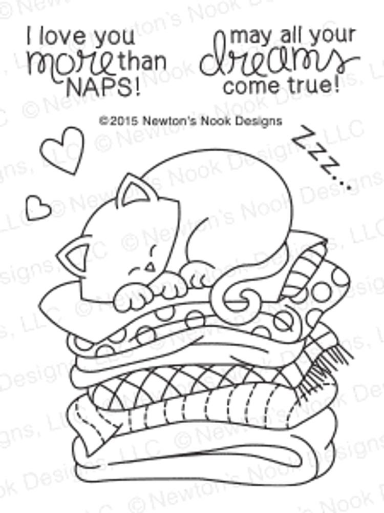 Newton's Naptime | 3x4 Photopolymer Stamp Set | Newton's Nook Designs