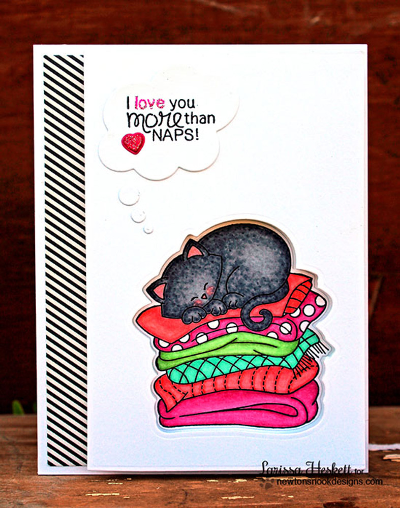Cat Love Card | Newton's Naptime Stamp Set by Newton's Nook Designs