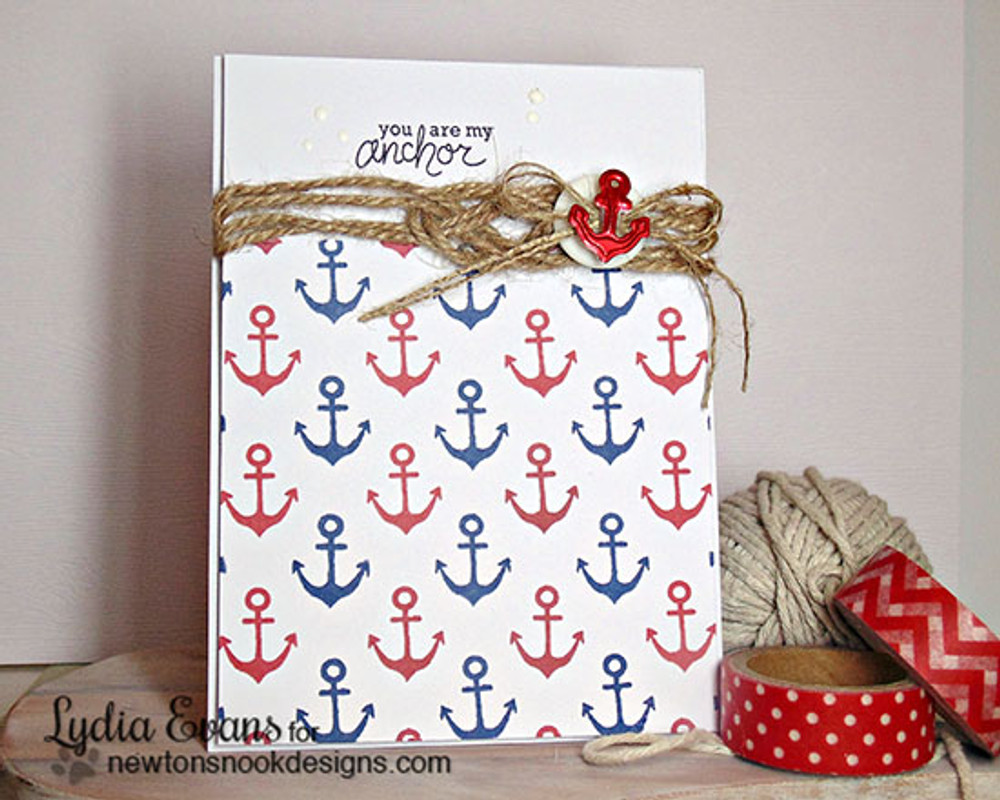Anchor Friendship Card | Message In A Bottle Stamp Set by Newton's Nook Designs