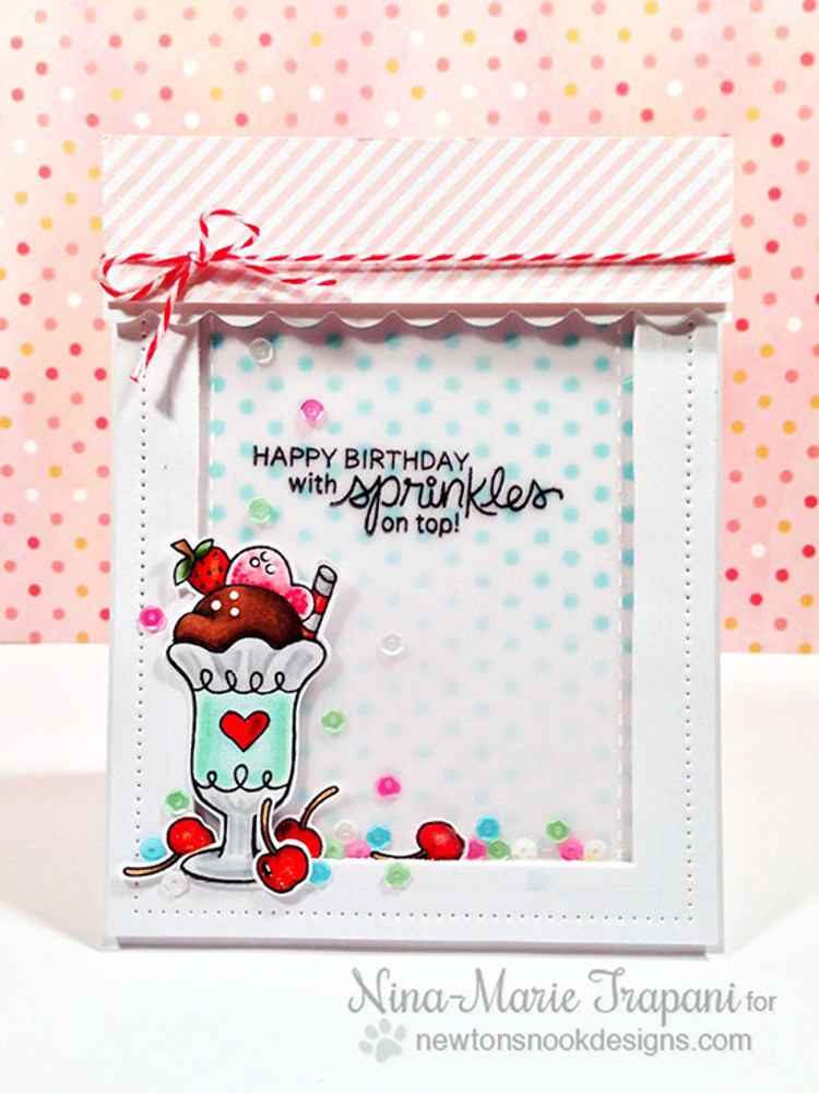 Ice Cream Birthday Card | Summer Scoops Stamp Set by Newton's Nook Designs