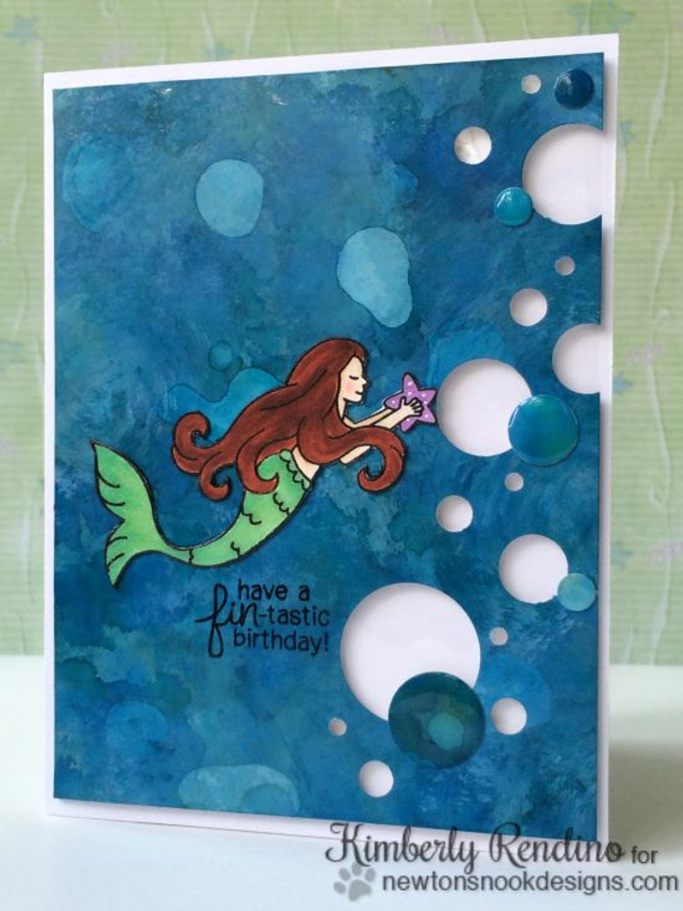 Mermaid Crossing | 3x4 Photopolymer Stamp Set | Newton's Nook Designs