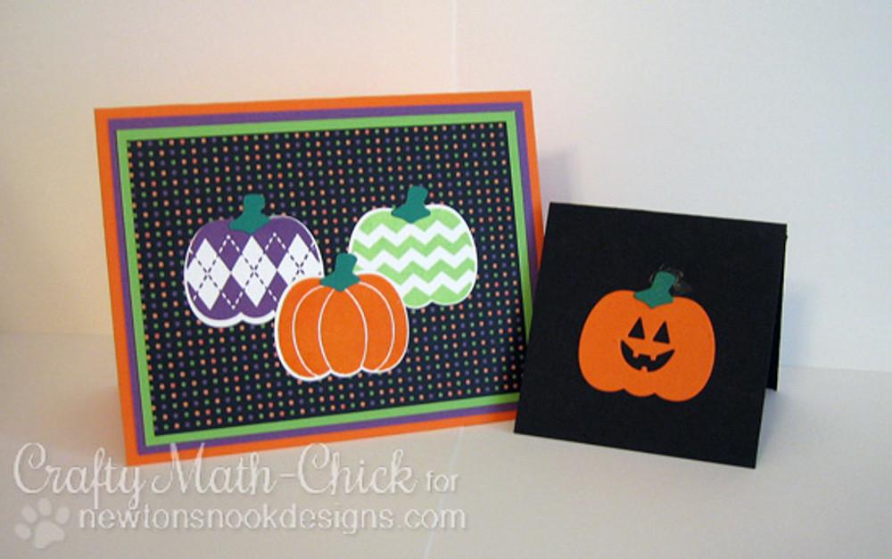 Pick-a-Pumpkin | 4x6 Photopolymer Stamp Set | Newton's Nook Designs