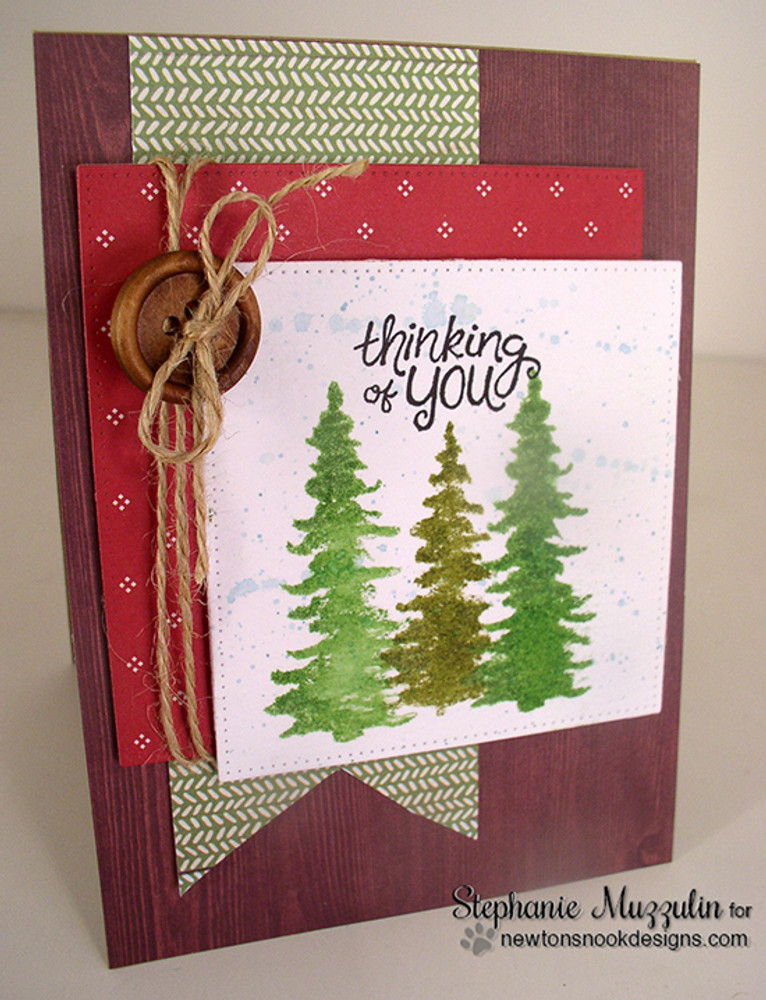 Whispering Pines | 4x6 Photopolymer Stamp Set | Newton's Nook Designs