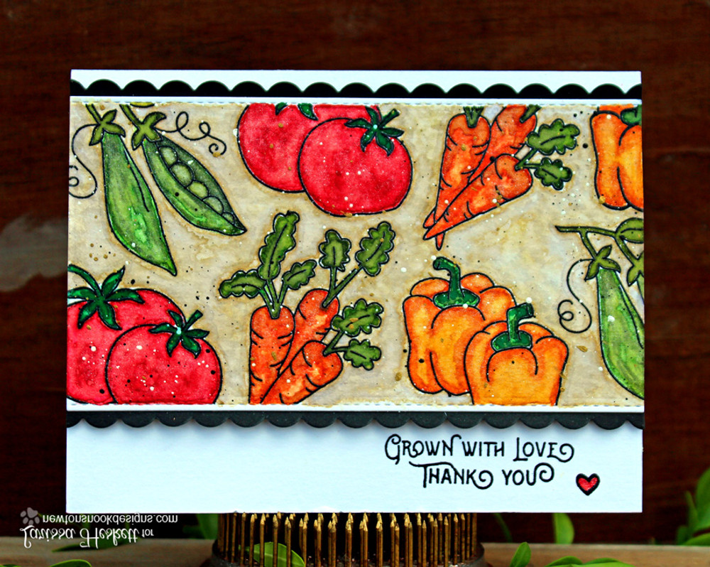 Vegetable card using Vegetable Garden Stamp Set by Newton's Nook Designs