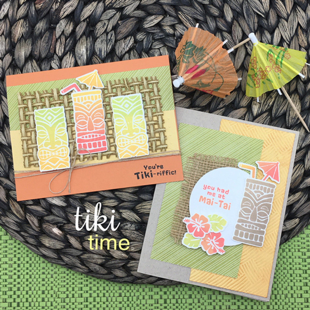Tiki Time Stamp Set by Newton's Nook Designs