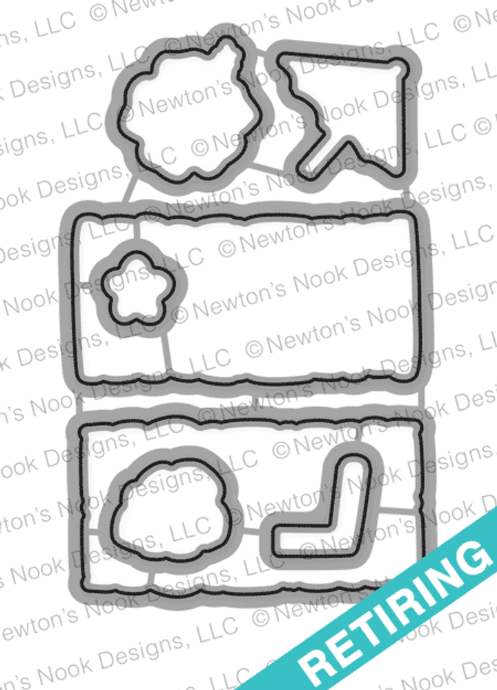 Tiki Time Die Set by Newton's Nook Designs