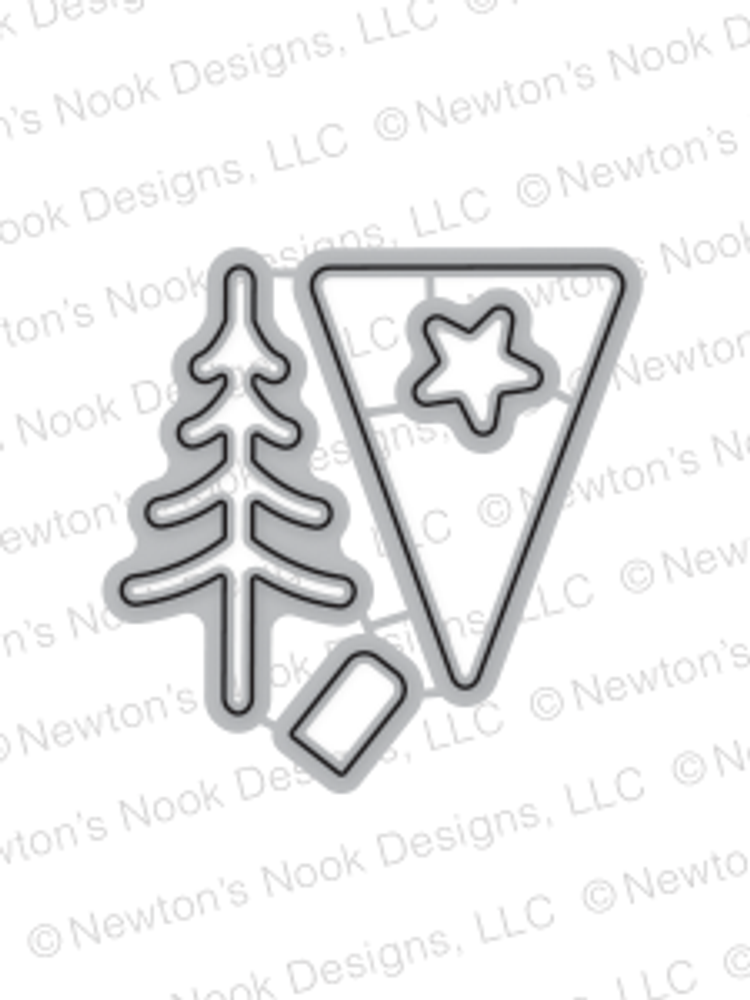 Festive Forest Die Set ©2016 Newton's Nook Designs