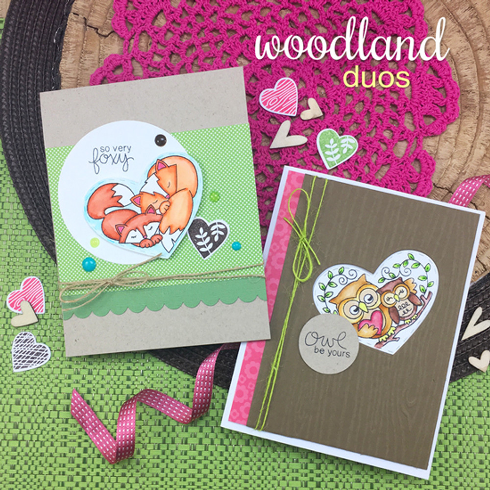 Woodland Duos Stamp Set by Newton's Nook Designs