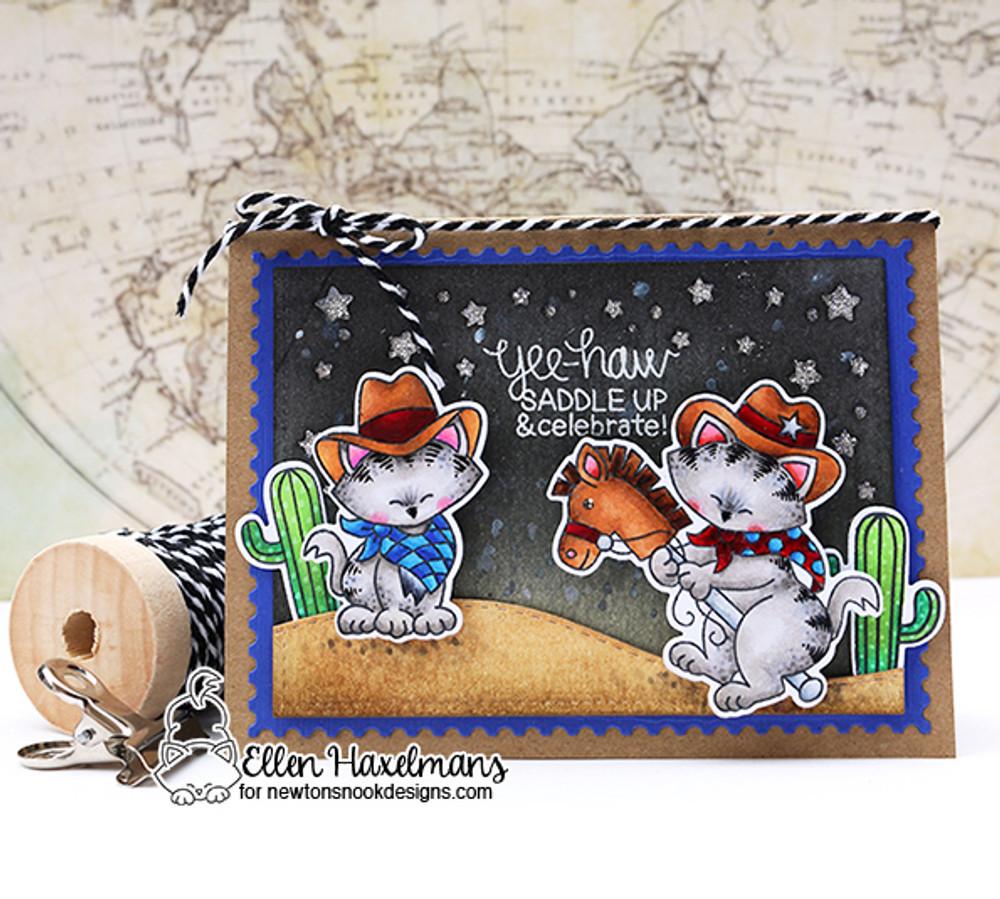 Newton Rides West Stamp Set by Newton's Nook Designs
