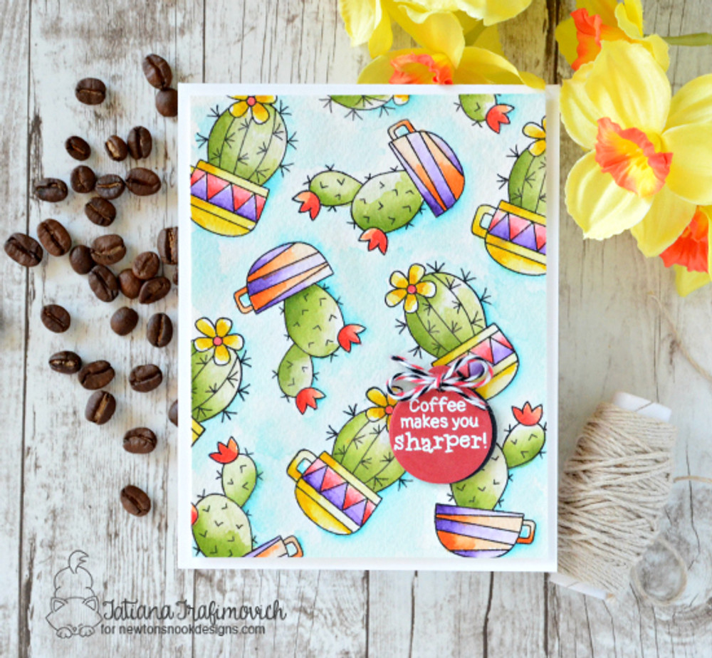 Cuppa Cactus Stamp Set by Newton's Nook Designs