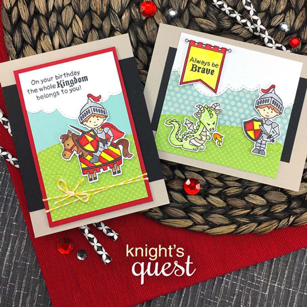 Knight's Quest Stamp Set ©2017 Newton's Nook Designs