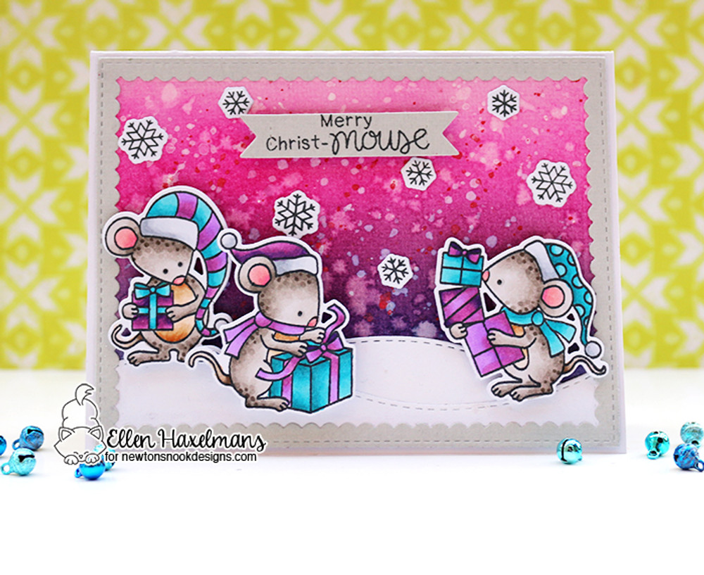 Naughty or Mice Stamp Set ©2017 Newton's Nook Designs