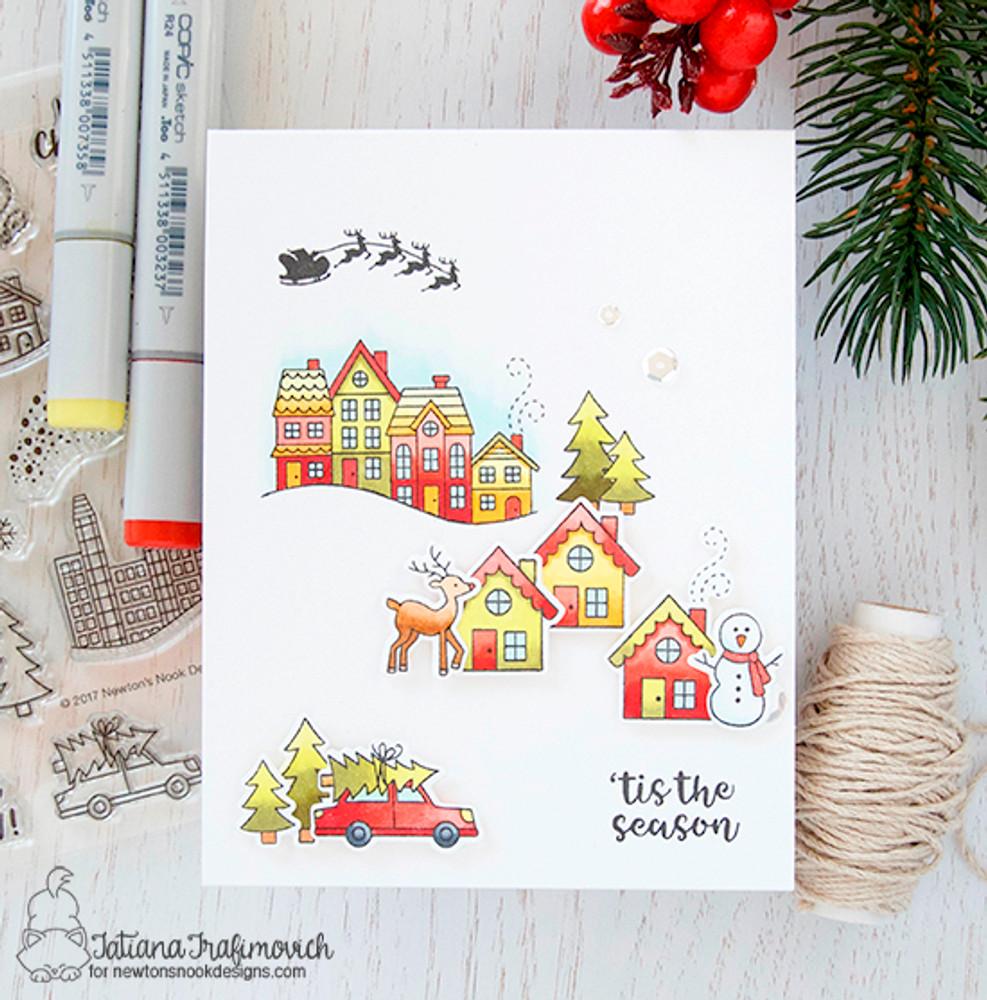 Snow Globe Scenes Stamp Set ©2017 Newton's Nook Designs