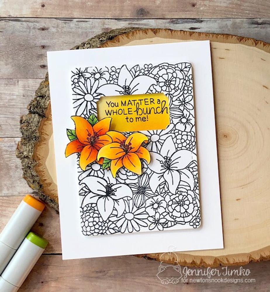 Blooming Botanicals Stamp Set ©2018 Newton's Nook Designs