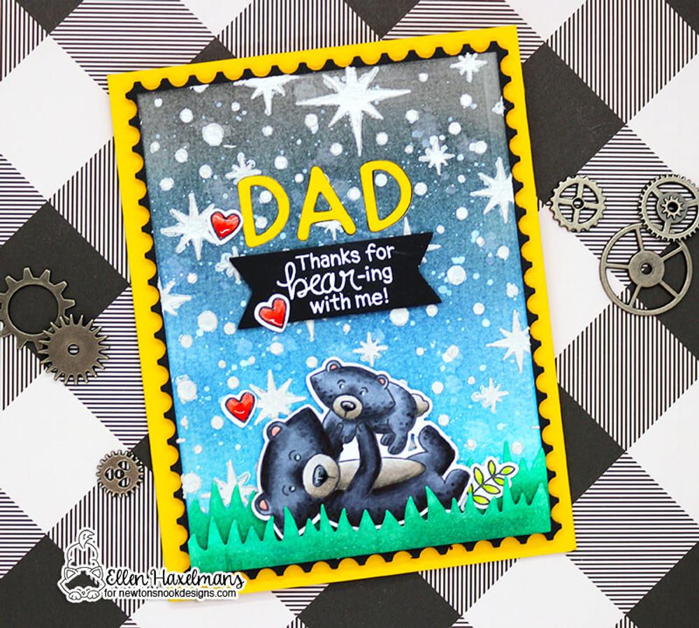 Papa Bear Stamp Set ©2018 Newton's Nook Designs