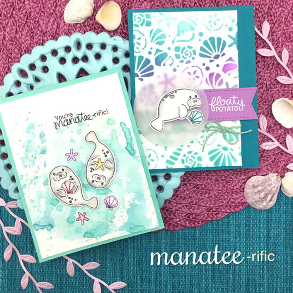 Manatee-rific Stamp Set ©2018 Newton's Nook Designs