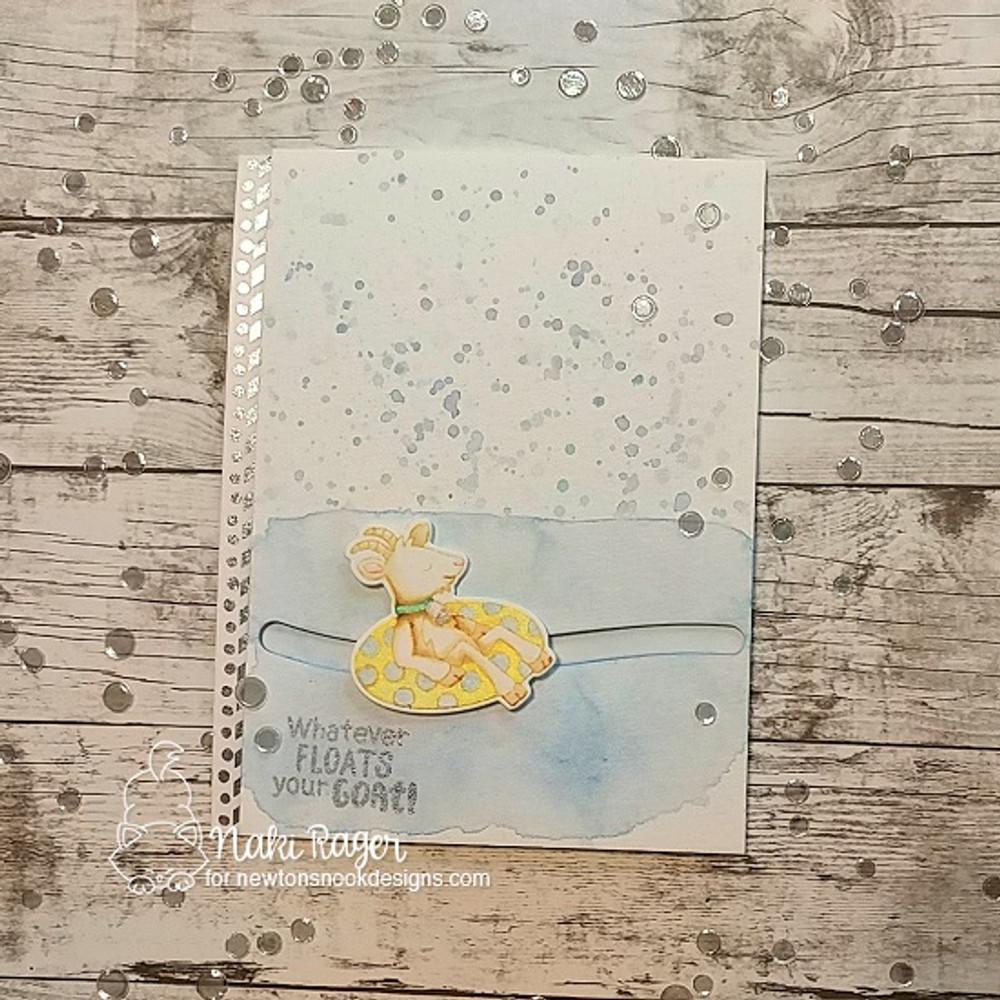 Floaty Goat Stamp Set ©2018 Newton's Nook Designs