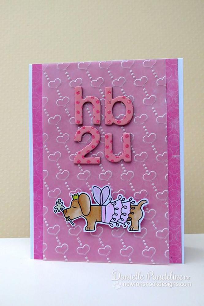 Daschund Fairy Costume Birthday Card|  Boo Crew Stamp Set by Newton's Nook Designs