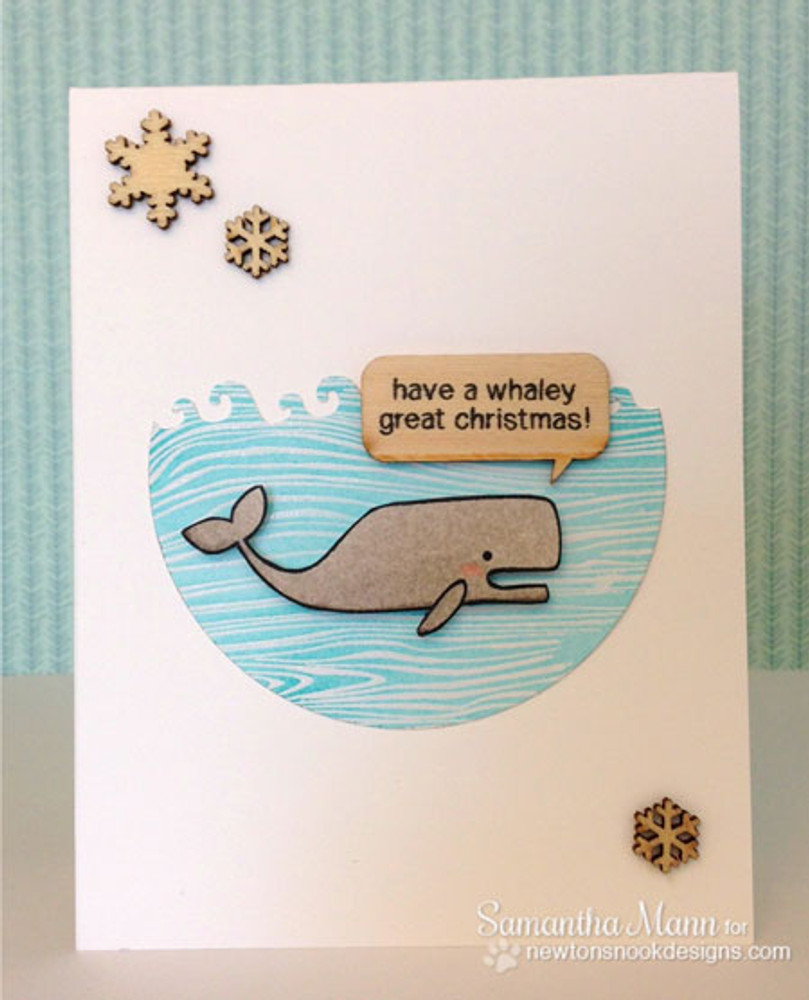Whale card using Seasons Greetings Stamp Set by Newton's Nook Designs