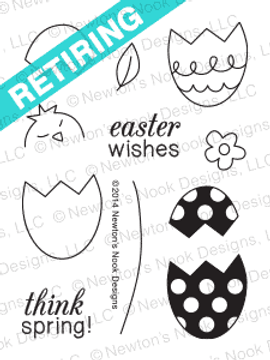 Easter Scramble - 3x4 photopolymer easter | Spring stamp set by Newton's Nook Designs.