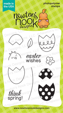 Easter Scramble - 3x4 photopolymer easter / spring stamp set by Newton's Nook Designs.