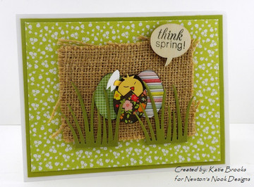 Easter Egg and Chick Card | Easter Scramble stamp set by Newton's Nook Designs.