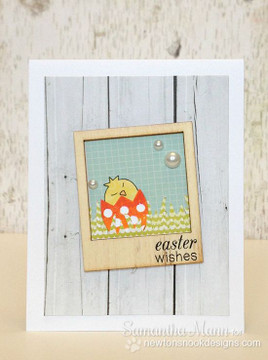 Happy Easter Egg and Chick Card | Easter Scramble stamp set by Newton's Nook Designs.