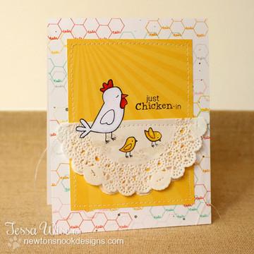 Chicken Scratches | 3x4 photopolymer Stamp Set | Newton's Nook Designs