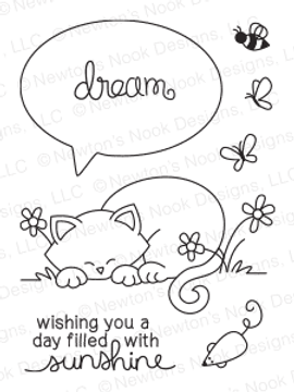 Newton's Day Dream | 3x4 photopolymer Stamp Set | Newton's Nook Designs