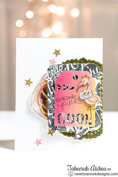 Fun Flamingo card | Flirty Flamingos stamp set by Newton's Nook Designs