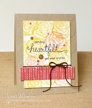 Get Well card made with Simply Sentimental stamp set from Newton's Nook Designs | 4x6 photopolymer Stamp Set | Newton's Nook Designs