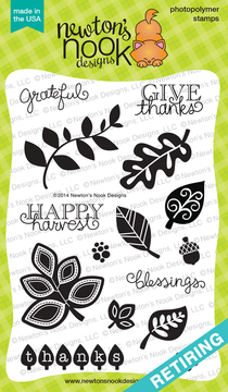 Falling into Autumn | 4x6 photopolymer Stamp Set | Newton's Nook Designs