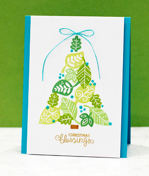 Christmas Tree with Leaves | Falling into Autumn | 4x6 photopolymer stamp set | Newton's Nook Designs