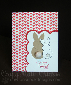 Bunny Love Card | Bunny Hop | 3x4 photopolymer Stamp Set | Newton's Nook Designs