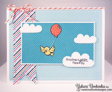 Birthday Bird Card   Newton's Birthday Flutter   3x4 photopolymer Stamp Set   Newton's Nook Designs